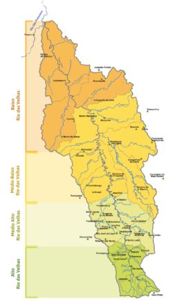 Mapa da Bacia do Rio das Velhas